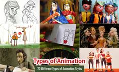 20 Different Types of Animation Techniques and Styles. Read full article: http://webneel.com/different-types-of-animation-styles | more http://webneel.com/animation | Follow us www.pinterest.com/webneel