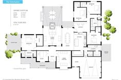 Really like this one Floor Plan Friday: Indoor/outdoor fireplace New House Plans, Dream House Plans, Modern House Plans, Modern House Design, House Floor Plans, Outdoor Fireplace Plans, Indoor Outdoor Fireplaces, Home Design Plans, Plan Design