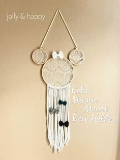 diy boho Minnie mouse bow holder jolly and happy
