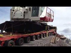 ▶ lowboy accident crane transporting - YouTube