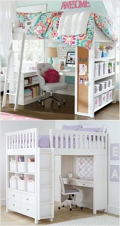 Invest in a Loft Bed That Combines Sleep, Storage and Work Together 6 Space Saving Furniture Ideas for Small Kids Room & Page The post 6 Space Saving Furniture Ideas for Small Kids Room & Page 3 of 3 appeared first on Rees Home Decor. Girls Bedroom, Bedroom Ideas For Teen Girls, Room Ideas Bedroom, Trendy Bedroom, Girl Room, Bedroom Decor, Bed Room, Kid Bedrooms, Decor Room