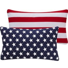 USA Flag Pillow Cover 12x20 Reversible, Flips to Stars or Stripes, July 4th Decor, Throw Pillow - Red, White and Blue Collection