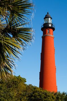 Tallest Lighthouse in Florida, the Ponce Inlet Lighthouse, is south of Daytona. Photographed by Kenneth Keifer.