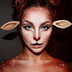 We've seen doe Halloween makeup for a few years now, but the body paint here take it one step further.