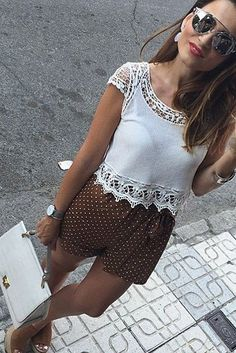 #summer #desert #outfits |  Lace + Pola Dots