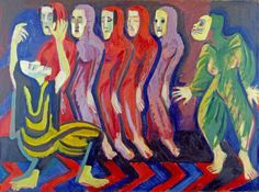 Image detail for -Mary Wigman's Dance of the Dead - Ernst Ludwig Kirchner ...