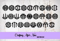 Check out this item in my Etsy shop https://www.etsy.com/listing/540963836/alphabet-svg-circle-monogram-font-svg