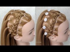 Hairstyle for Baptism / Hairstyles for Girls Communion by Belleza sin Limites Easy Hairstyles, Girl Hairstyles, Girl Hair Dos, Toddler Girl, Bobby Pins, Dreadlocks, Hair Accessories, Hair Styles, Beauty