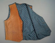 Men s Genuine Leather Waistcoat Soft Size M Brown Chest 40-42 Vintage