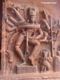 81 dance poses of Shiva at Badami, Karnataka