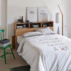 Magnifique Tête De Lit IKEA Avec Rangements En DIY Notre Nid - Lit avec tete de lit rangement