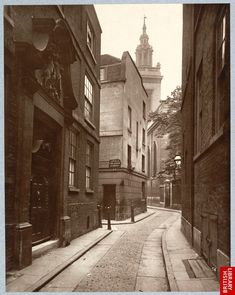 College Street, City of London: 1884 by Henry Dixon. Museum quality art prints with a selection of frame and size options, and canvases. Museum of London Victorian London, Vintage London, Old London, London City, Victorian Era, London History, British History, Old Pictures, Old Photos