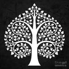 Bodhi Tree Digital Art - Golden Bodhi Tree by Bobbi Freelance Buddha Kunst, Buddha Art, Madhubani Art, Madhubani Painting, Bodhi Tree Tattoo, Worli Painting, Indian Folk Art, Thai Art, Motif Floral