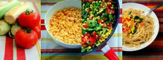 My Summer Vacation, and a Summer Pasta Recipe Summer Pasta Recipes, Dinner Recipes, Light Pasta Salads, Spaghetti With Spinach, Fruits And Veggies, Vegetables, Parmesan Pasta, Summer Fruit, Main Meals