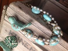 Large turquoise chunky boho country statement by joellieboutique, $87.00