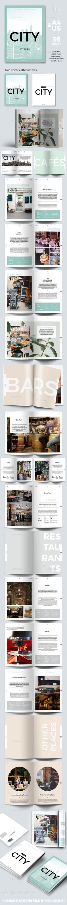 City Guide Template by porshy Live Preview This product includes: 36pp Indesign Document 2 sizes: A4 & US letter Compatible with Adobe Indesign CS4, CS5, CS5.5,
