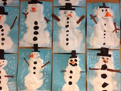 Kuvis ja askartelu 2 - www.opeope.fi Snowmen, Holiday Decor, Disney Characters, Kids, Toddlers, Boys, Snowman, For Kids, Children