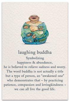 Inside message: Long live the laughing buddha in you. Sanskrit Symbols, Spiritual Symbols, Buddha Symbols, Hindu Symbols, Yoga Symbole, Yi King, Funny Quotes, Life Quotes, Laugh Quotes