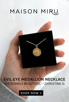 I designed the Evil Eye Medallion Necklace to celebrate your accomplishments - this is the perfect charm to gift someone commemorating a milestone. Wear it solo, or team it with our initial charms to make your modern heirloom uniquely your own.