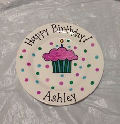 A personal favorite from my Etsy shop https://www.etsy.com/listing/268916166/happy-birthday-plate-personalized-plate