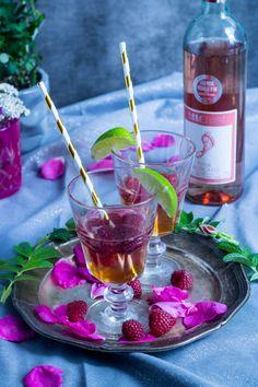 Najlepszy koktajl na bazie różowego wina Barefood idealny na letni wieczór, babskie spotkanie i nie tylko :)  Best coctail with pink wine Barefoot