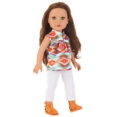 "Journey Girls 18 inch London Doll - Kyla (Ikat Tunic and White Capris) - Toys R Us - Toys ""R"" Us"