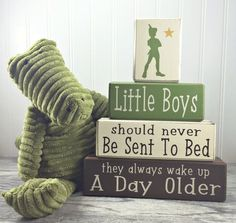 Peter pan nursery little boys quote neverland by AppleJackDesign