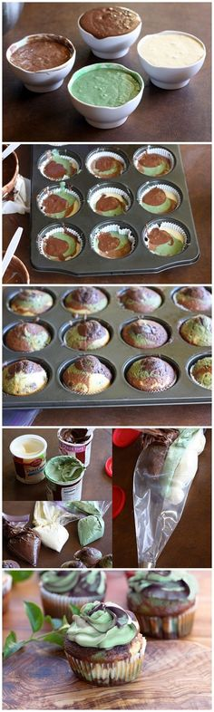 Camo Cupcakes definately gonna try this one! would be great forpaintball parties with brighter colors
