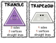 FREEBIE! Shapes (Mini Posters) for the Primary Classroom. $
