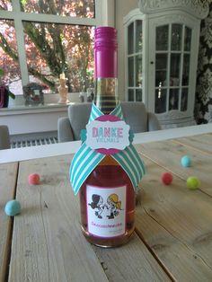 Flaschenanhänger mit Wie du bist, Stanze Dekoratives Etikett, Stanze Modernes Label
