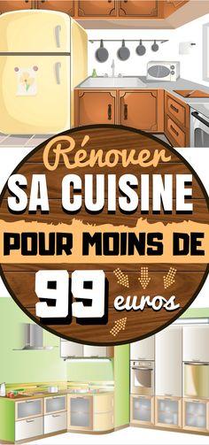 Comment rénover sa cuisine pour moins de 99 euros ? Vous regardez votre compte en banque et … vous ne voyez pas assez de 0 pour rénover votre cuisine ? Eh bien…et alors ? Cela ne signifie pas que vous ne pouvez pas la changer. Il existe différents moyens de rénover les pièces d'une maison. Voici une liste de tout ce que vous pouvez faire avec un tout petit budget pour améliorer votre cuisine. Et c'est déjà beaucoup ! #deco #diy #maison #rangement #organisation #cuisine #décoration…