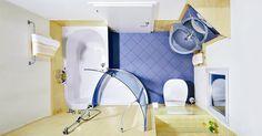 11brilliant ideas for bathrooms... Love the colours