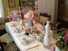6 year old birthday party tea party theme 70th Birthday Ideas For Mom, Mom Birthday, Tea Party Theme, Tea Parties, Table Decorations, Dinner Table Decorations, Happy Birthday Mom