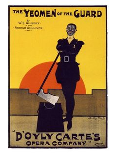 Vintage Theatre Poster - The Yeoman of the Guard - D'oyly Carte's Opera Company