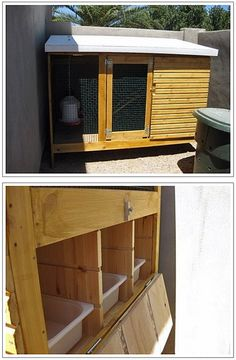 "Chicken coop.  The back opens to clean and collect eggs. It uses ikea Trofast shelving and plastic bins. Pics 2 and 3 of 3. Complete description at IKEAHACKERS.COM   ""ikea home for chicks"" from 2009."