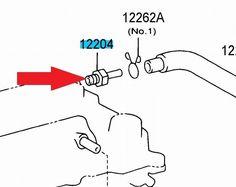 00-05 Echo PCV Vent Valve NEW genuine Toyota OEM 1220421011