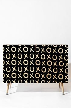 Buy Credenza with Love Xo White And Black designed by Amy Sia. One of many amazing home décor accessories items available at Deny Designs. Cute Furniture, Black Bedroom Furniture, Furniture Makeover, Painted Furniture, Furniture Design, Furniture Layout, Kitchen Furniture, Plywood Furniture, Furniture Dolly