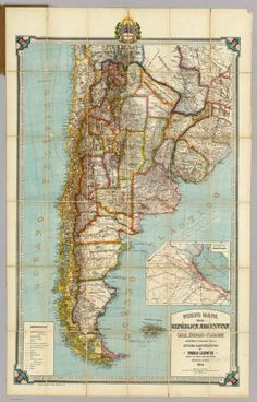 Argentina map print map vintage old maps Antique prints poster map wall home decor wall map large map old prints South America map South America Map, Central America, Systems Art, Map Globe, Argentine, Retro Images, Wall Maps, Vintage Maps, Antique Prints