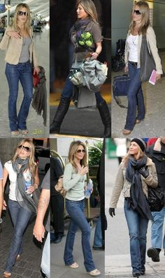 Love all these jean combinations. Love her casual style