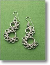 Lace Skirts earrings- chain maille