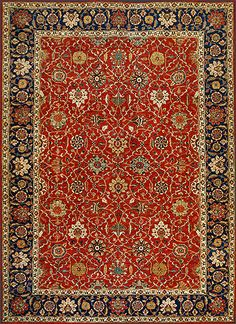 Afghan Blossom Lattice Oriental Rug #43334
