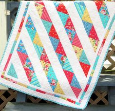 Handmade Bright Baby Quilt by StormyDays on Etsy, $65.00