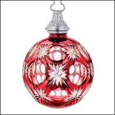 Vintage waterford crystal christmas tree topper gorgeous for Crystal baubles christmas