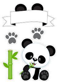 Resultado de imagem para topper panda Panda Party, Panda Birthday Party, Bear Party, Bear Birthday, Birthday Diy, Girl Birthday, Birthday Cartoon, Panda Png, Diy Gifts Sister