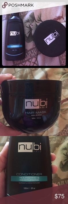 Nubi hair mask and conditioner Bought these great items but never used! Hair mask was originally $100 and conditioner was $25 let me know if you are interested! I can sell them separately or together! They are free with the purchase of my straightener in my other listing :) nubi Other
