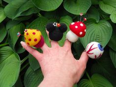 Needle Felted Pin Cushion Rings by Tami Medwid