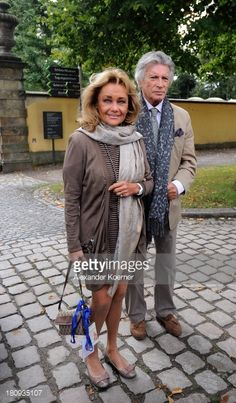 Actor Pierre Brice arrives with his wife Hella Krekel prior to a... News Photo