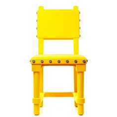 Moooi Gothic Chair - Yellow (19.240 RUB) ❤ liked on Polyvore featuring home, furniture, chairs, accent chairs, yellow, moooi, colored chairs, yellow chair, moooi furniture and button chair