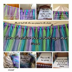 Making a Tutu Bed skirt for a full-size bed part2 http://waitingforbabymia.blogspot.com/2014/09/making-tutu-bed-skirt-for-full-size-bed.html