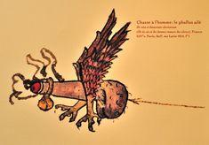 """Chasse a l'Homme: Le phallus ailé-XIV.'s.Paris BnF-Exposition """"L'Amour au Moyen âge"""", à la Tour Jean sans Peur (Paris,2014)-Leglobeflyer--Vient ensuite le jeu de la séduction. Plus que ses qualités intellectuelles, c'est la beauté physique de la femme qui rend l'homme heureux jusqu'à provoquer une addiction (pour ne pas dire une érection!). L'idéal féminin est une jeune fille de quinze ans environ avec de longs cheveux blonds, à la peau d'un blancheur de lys, à la taille et aux seins menus…"""